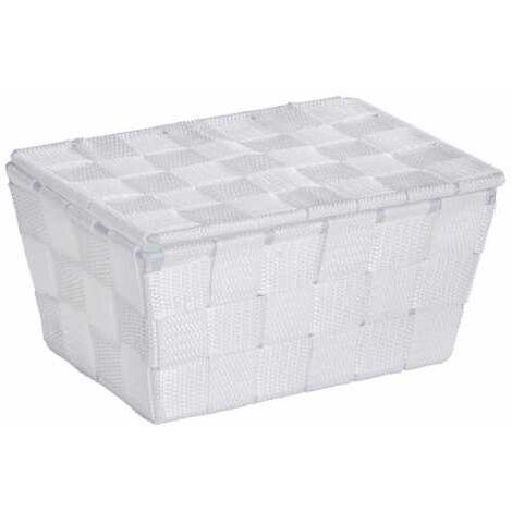Storage basket Adria White with lid WENKO