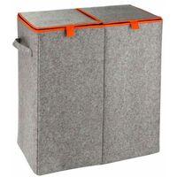 Storage Basket Duo Felt grey/orange WENKO