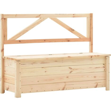 Storage Bench 120 cm Solid Pine Wood