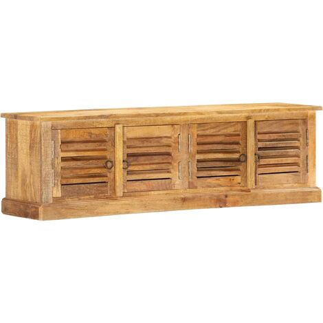 Storage Bench 128 cm Solid Mango Wood
