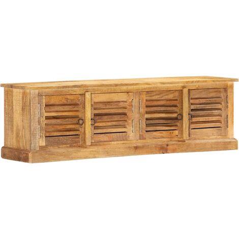 Storage Bench 128 cm Solid Mango Wood - Brown
