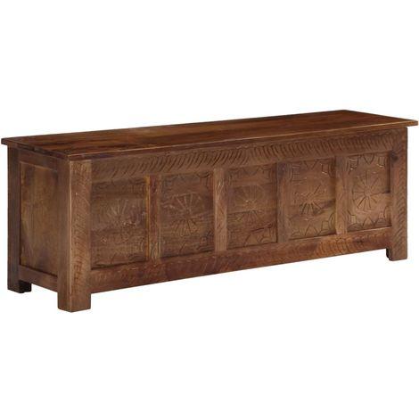 Storage Box 120x30x40 cm Solid Mango Wood