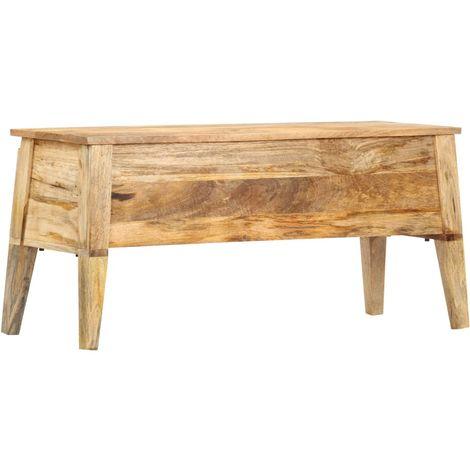 Storage Box 99x35x48 cm Solid Mango Wood