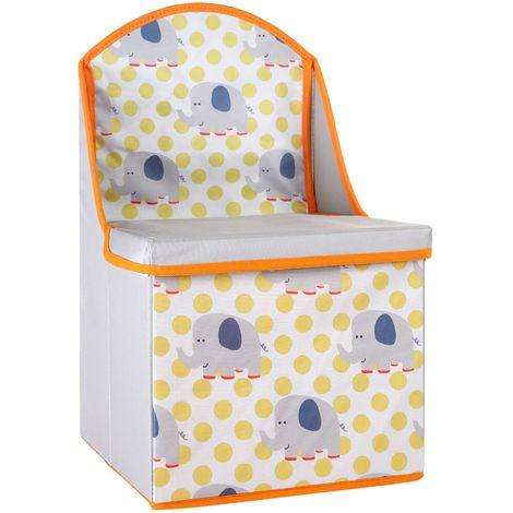 Storage box/seat,elephant design,medium-density fibreboard/polyester