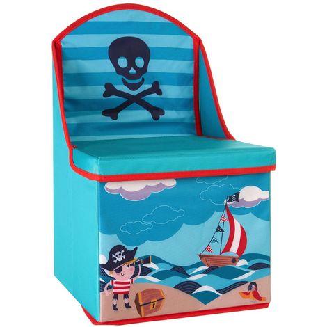 Storage box/seat,pirate design,medium-density fibreboard/polyester