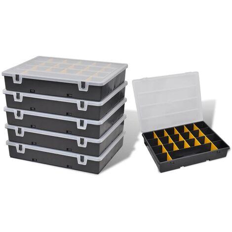 "main image of ""Storage Box Sort Case 6 pcs - Black"""