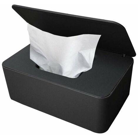"""main image of """"Storage Box, Wipes Case, Wet Tissue Box, Tissue Plastic Box, Baby Wet Wipes, Baby Towel Box (black)"""""""