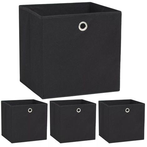 Storage Boxe4 pcNon-woven Fabric 32x32x32 cm Black