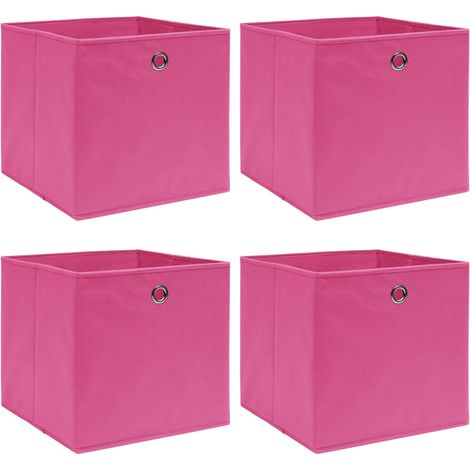 Storage Boxe4 pcPink 32x32x32 cm Fabric