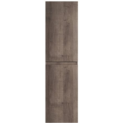 Storage cabinet Angela 150cm Brown Oak - Storage cabinet tall cupboard bathroom furniture
