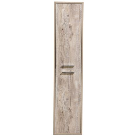 Storage cabinet Tulum 160cm Nature wood - Storage cabinet tall cupboard bathroom furniture