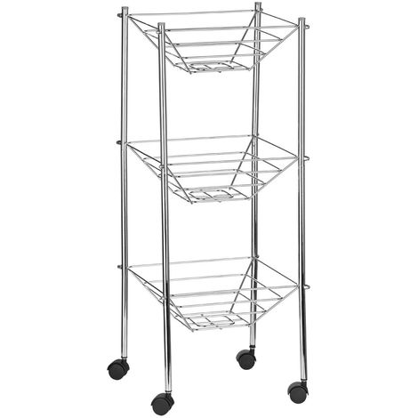 Storage cart,3 tier/wheels,chrome