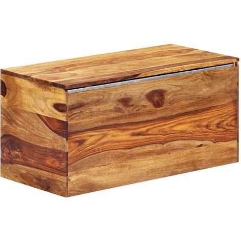 Storage Chest 80x40x40 cm Solid Sheesham Wood