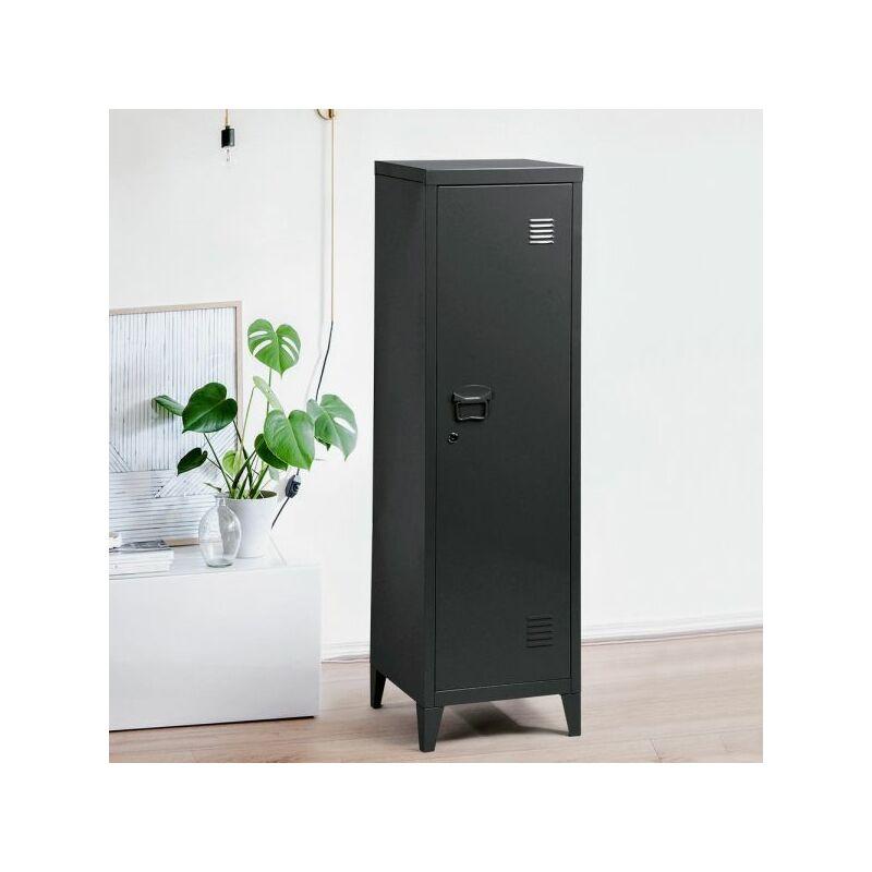 Image of Homylin - Storage Locker, Lockable Storage,3-in-1 Metal Locker,3 Shelves Cabinet, Home & Office Filling Organizer, Kids Toy Storage Bin, Gym Room