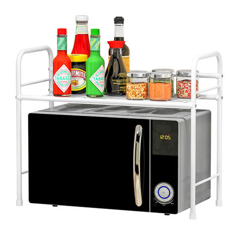Storage Organizer Kitchen Microwave Oven Metal Storage Rack Household