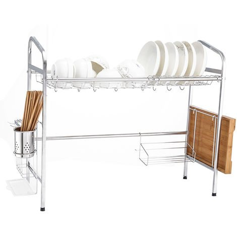 Storage rack for drying dishes Stainless steel kitchen rack Over the sink 60cm