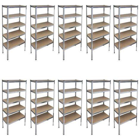 Storage Rack Garage Storage Shelf 10pcs VD14740