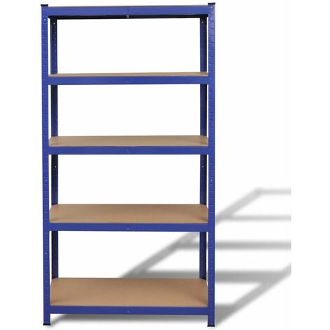 Storage Shelf Garage Storage Organizer Blue QAH03830
