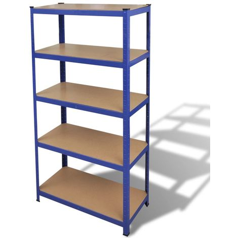 Storage Shelf Garage Storage Organizer Blue VD03830