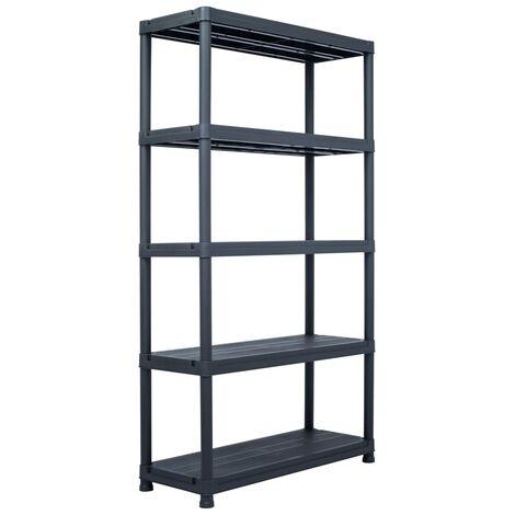 Storage Shelf Rack Black 500 kg 100x40x180 cm Plastic