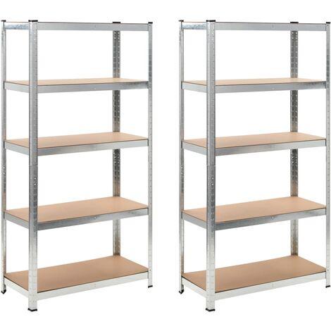 "main image of ""Storage Shelf Silver 2 pcs - Brown"""
