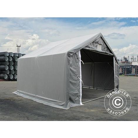 Storage shelter Storage tent PRO 4x4x2x3.1 m, PVC, Grey