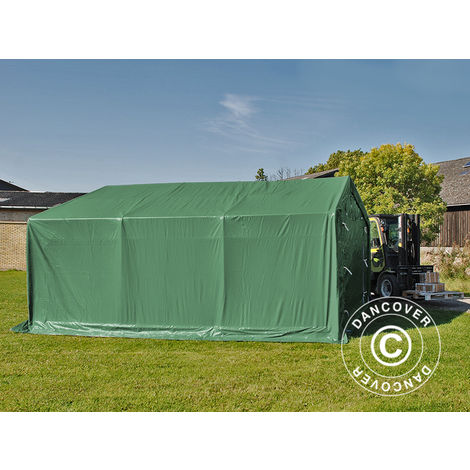 Storage shelter Storage tent PRO 4x6x2x3.1 m, PVC, Green