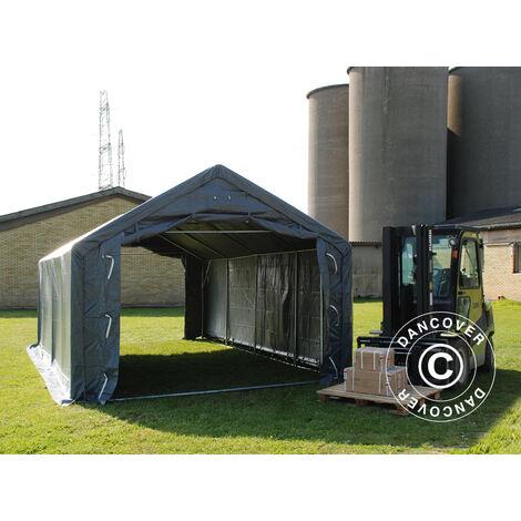 Storage shelter Storage tent PRO 4x6x2x3.1 m, PVC, Grey