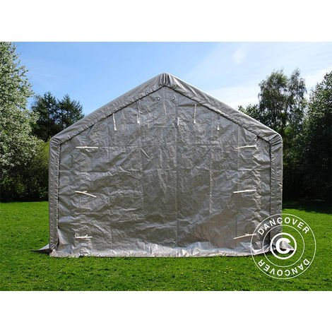 Storage shelter Storage tent PRO 4x8x2x3.1 m, PE, Grey