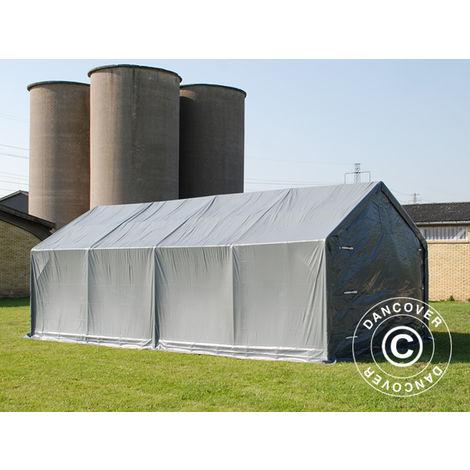 Storage shelter Storage tent PRO 4x8x2x3.1 m, PVC, Grey