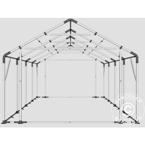 Storage shelter Storage tent PRO 5x8x2.5x3.89 m, PE, Grey