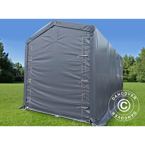 Storage shelter Storage tent PRO XL 3.5x8x3.3x3.94 m, PVC, Grey