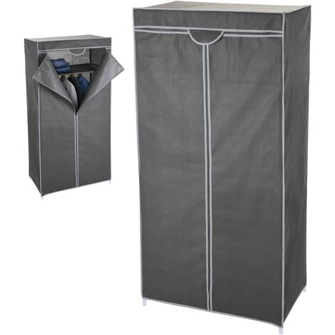 Storage solutions Portable Wardrobe 75x45x160 cm Grey
