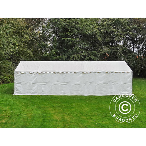 Storage Tent Portable garage Basic 2-in-1, 4x10 m PE, White