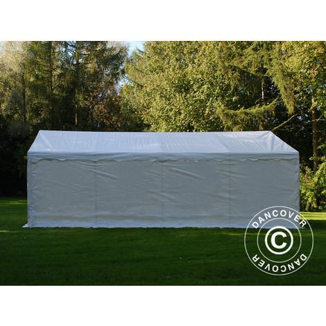 Storage Tent Portable garage Basic 2-in-1, 4x8 m PE, White