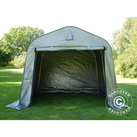 Storage tent Portable garage PRO 2.4x2.4x2 m PE, Grey