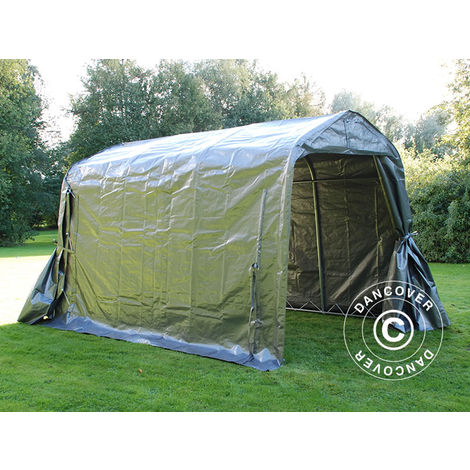 Storage tent Portable garage PRO 2.4x3.6x2.34 m PE, Grey
