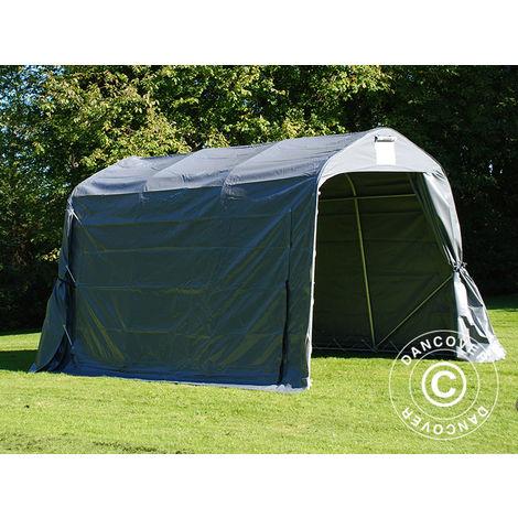 Storage tent Portable garage PRO 2.4x3.6x2.34 m PVC, Grey
