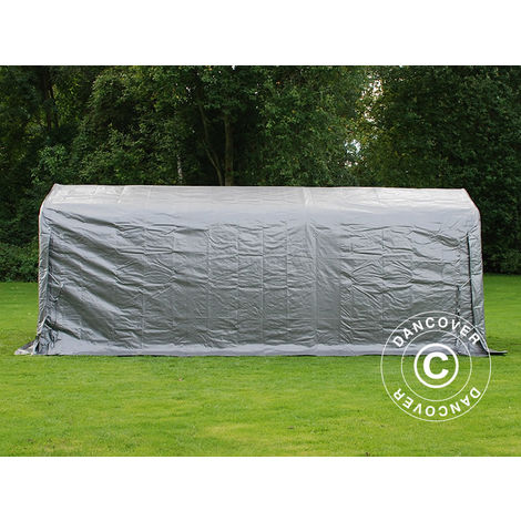 Storage tent Portable garage PRO 2.4x6x2.34 m PE, Grey