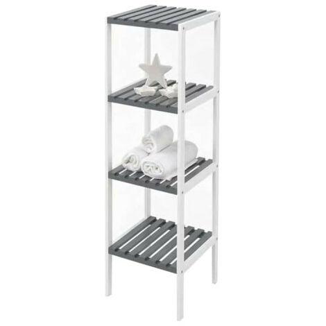 Storage unit KIT CLOSET Nature Series - 4 shelves - White and grey - 110 x 30 x 34 cm