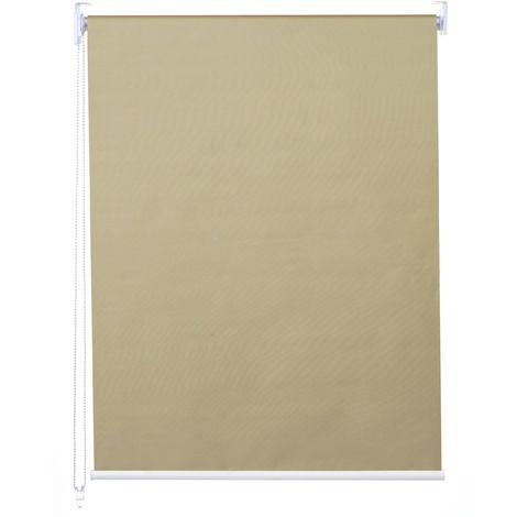 Store à enrouleur pour fenêtres, HHG-322, avec chaîne, avec perçage, isolation, opaque, 90 x 160 ~ beige