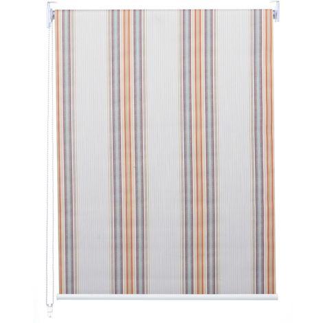 Store à enrouleur pour fenêtres, HHG-384, avec chaîne, avec perçage, isolation, opaque, 60 x 230 ~ gris/blanc