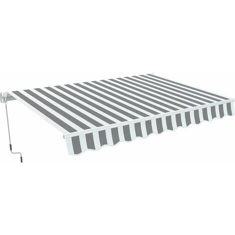 """Store banne en aluminium """"Ombra 3"""" - Gris / Blanc"""