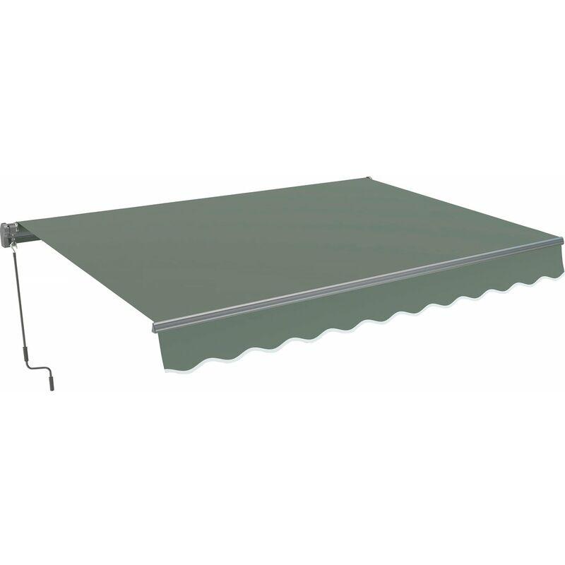 Store banne en aluminium 'Ombra 3' - 4 x 2.50 m - Gris foncé
