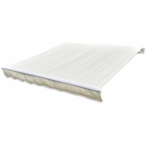 Store banne en toile Blanc creme 6 x 3 m (Cadre non inclus)