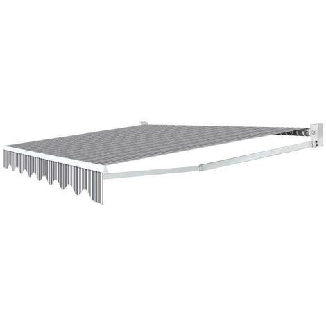 Store banne manuel 3.95x3 m Rayé