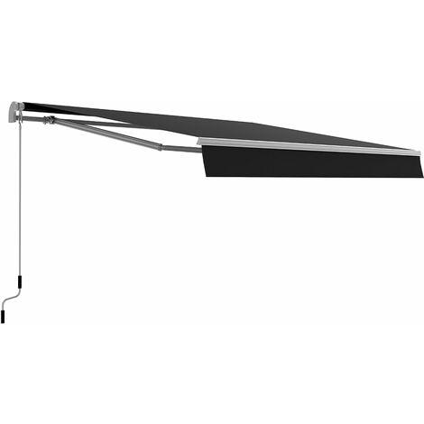 Store banne manuel 3X2 m TAMPA gris en aluminium