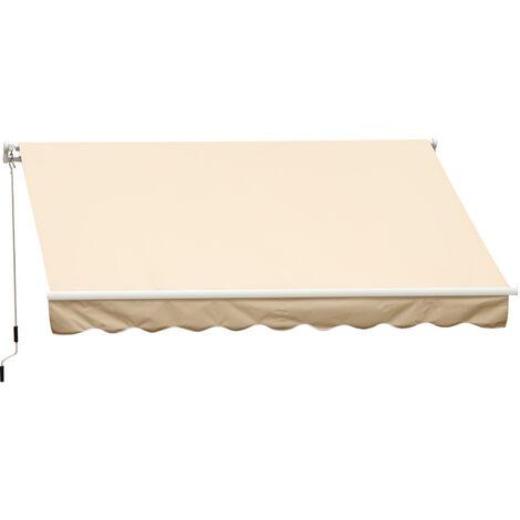 Store banne manuel 4 x 2,5 m polyester imperméable rétractable