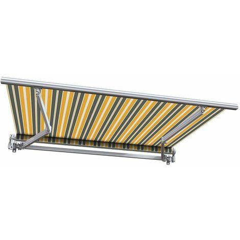 Store banne manuel Monobloc pour terrasse - Gris jaune - 2,5 x 2 m