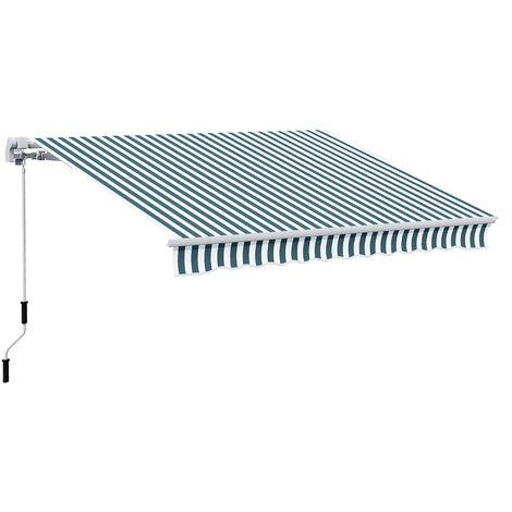 Store banne manuel rétractable 4L x 3l m